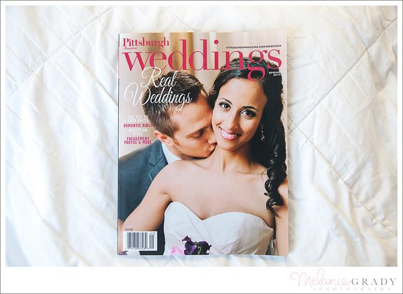 Published Pittsburgh Wedding Photographer - Melanie Grady Photography