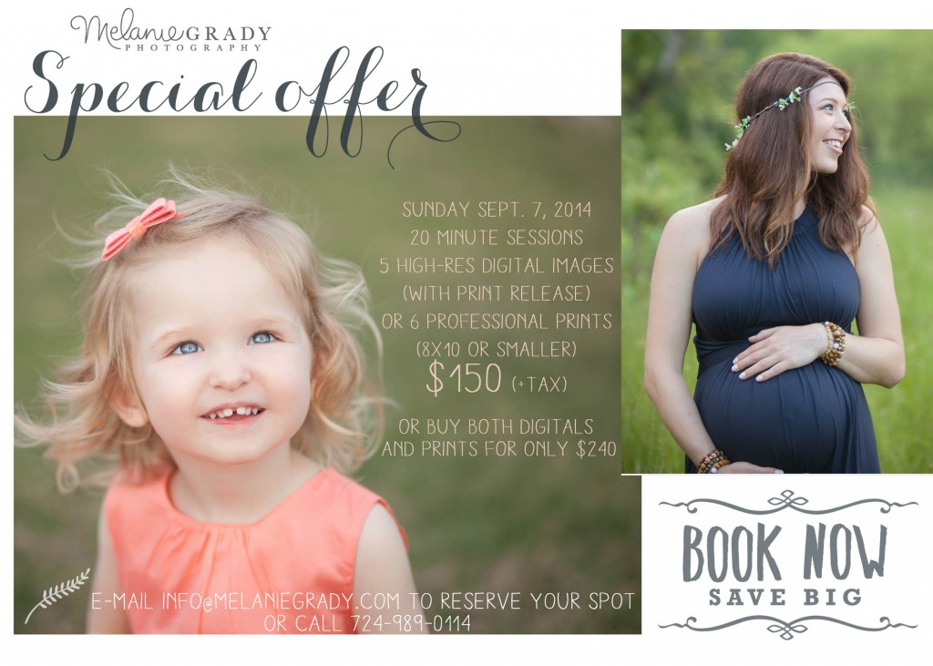 mini session, discounted session, pittsburgh mini session, portraits, melanie grady photography