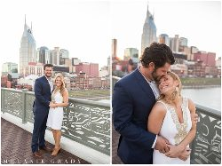 Nashville engagement photographer, downtown Nashville engagement session, , The Pedestrian Bridge, Nissan Stadium, southern engagement session, Spring engagement session, engagement session, melanie grady photography, www.melaniegrady.com, country engagement photography, luxury engagement photography, engaged, bride and groom to be, nashville