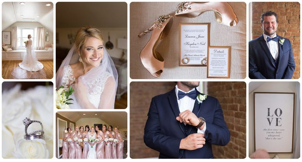 Southern Wedding at the McConnell House in Franklin, TN with sequin rose gold dresses and champagne and blush, nashville wedding photographer, melanie grady